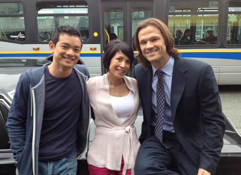 Supernatural: Osric Chau, Lauren Tom, Jared Padalecki