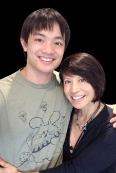 With Osric Chau